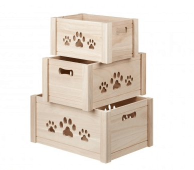 Natural Pawsome Wooden Box