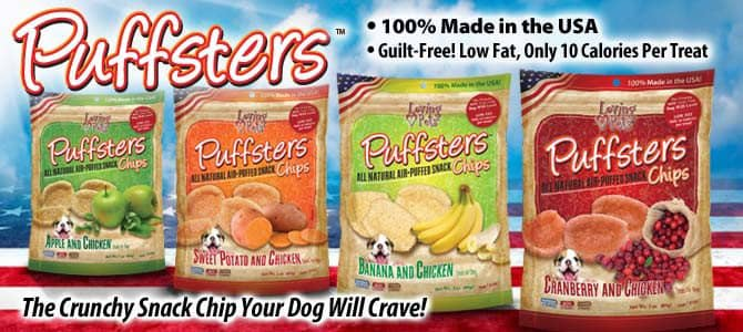 Puffsters - The Crunchy Snack Chip your Dog Will Crave!